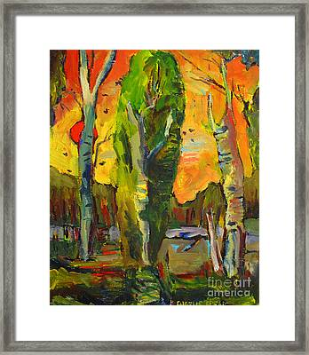 Catalpa At Raders Pond Framed Print by Charlie Spear
