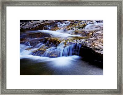 Cataract Falls Framed Print by Chad Dutson