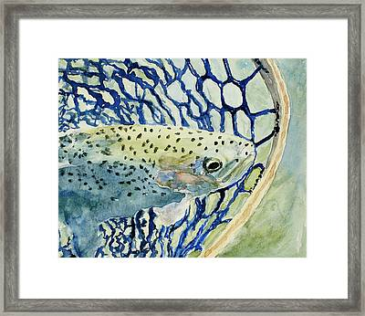 Catch And Release Framed Print by Mary Benke