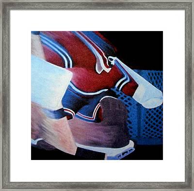 Catch Glove Save Framed Print by Ken Yackel