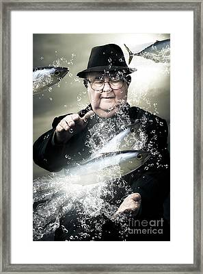 Catch Of The Day Framed Print by Jorgo Photography - Wall Art Gallery
