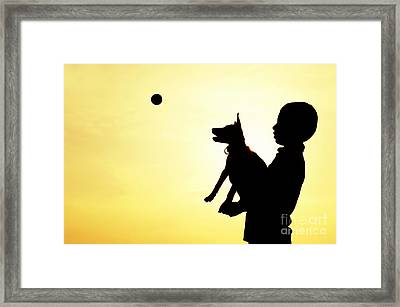 Catch Framed Print by Tim Gainey