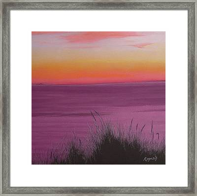 Catching The Mood At Cape Cod Bay Framed Print by Harvey Rogosin