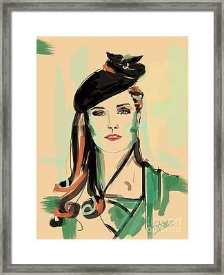 Kate Framed Print by Go Van Kampen