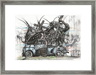 Catfish Blues Framed Print by Tai Taeoalii