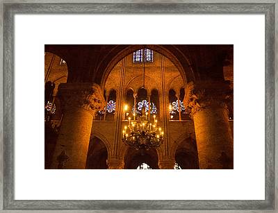 Cathedral Chandelier Framed Print by Mick Burkey