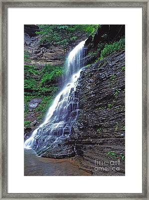 Cathedral Falls In Spring Framed Print by Thomas R Fletcher
