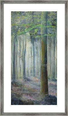 Cathedral Forest With Hyacinths Framed Print by Magali Gauthier