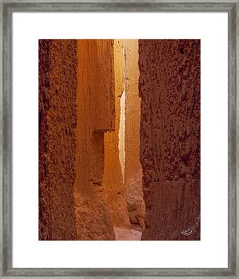 Cathedral Gorge Canyon Framed Print by Leland D Howard