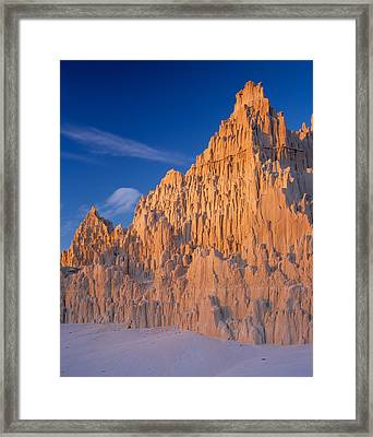 Cathedral Mounds Framed Print by Leland D Howard