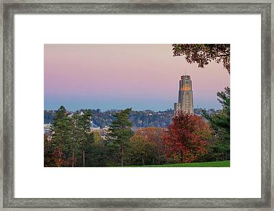 Cathedral Of Learning Framed Print by Emmanuel Panagiotakis