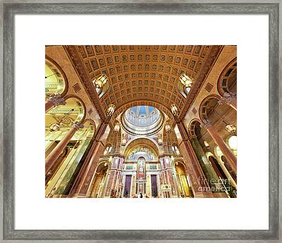 Cathedral Of St. Matthew Viii Framed Print by Irene Abdou