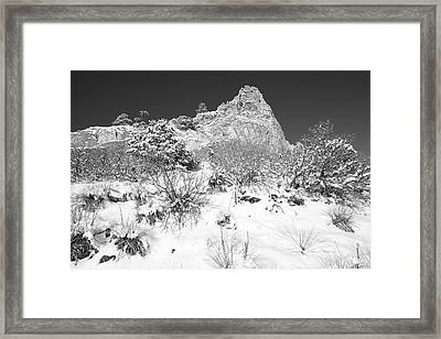 Cathedral Rock Framed Print by Eric Glaser