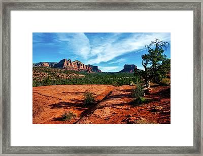 Cathedral Rock In Arizona Framed Print by USFS Deborah Lee Soltesz