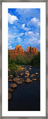 Cathedral Rock Oak Creek Red Rock Framed Print by Panoramic Images