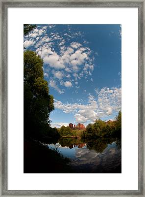 Cathedral Rock One Framed Print by David Sunfellow