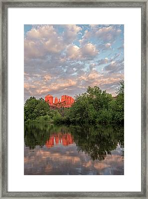 Cathedral Rock Sunset Framed Print by Loree Johnson