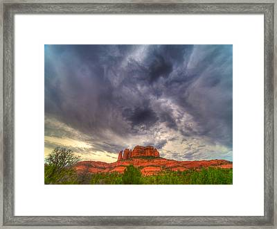 Cathedral Rock Vortex Framed Print by William Wetmore