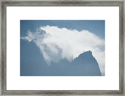 Cathedral Rocks Mist Framed Print by Chris  Brewington Photography LLC