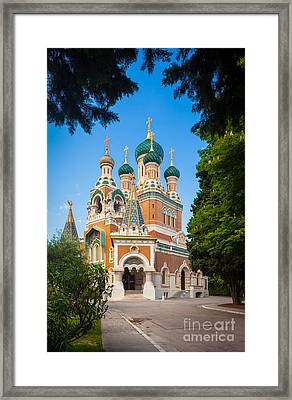 Cathedral Russe Framed Print by Inge Johnsson