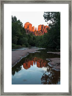 Cathedral Sunset Framed Print by Bill Cantey