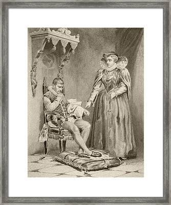 Catherine De  Medici, 1519 To 1589 Framed Print by Vintage Design Pics