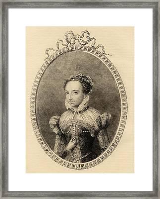 Catherine De Medici. Born Caterina Framed Print by Vintage Design Pics