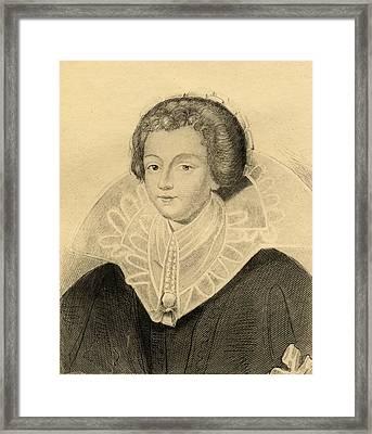 Catherine-henriette D Entragues  De Framed Print by Vintage Design Pics