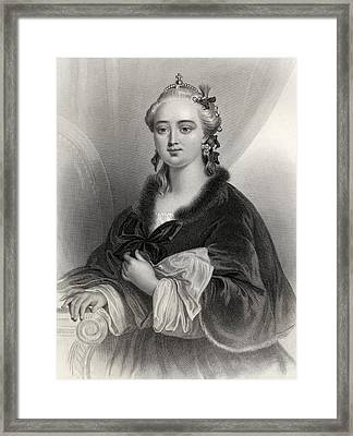 Catherine II, Catherine The Great Framed Print by Vintage Design Pics