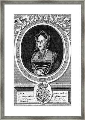 Catherine Of Aragon, First Wife Framed Print by Wellcome Images