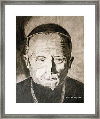 Catholic Cardinal Jozsef Mindszenty Framed Print by Arline Wagner