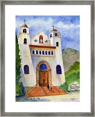 Catholic Church Miami Arizona Framed Print by Marilyn Smith