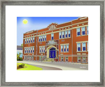Catonsville Elementary School Framed Print by Stephen Younts