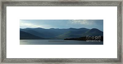 Catskill Mountains Panorama Photograph Framed Print by Kristen Fox