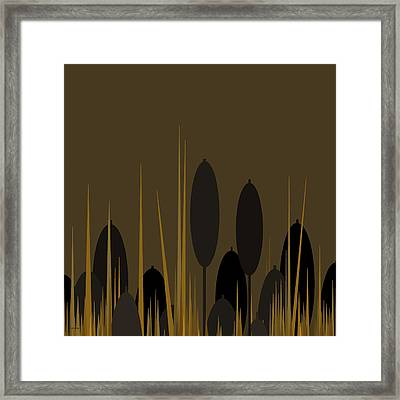 Cattails Framed Print by Val Arie
