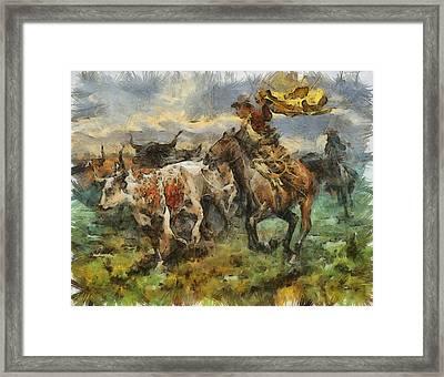 Cattle Framed Print by Shimi Gasaba
