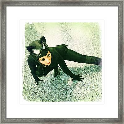 Catwoman Framed Print by Nina Prommer