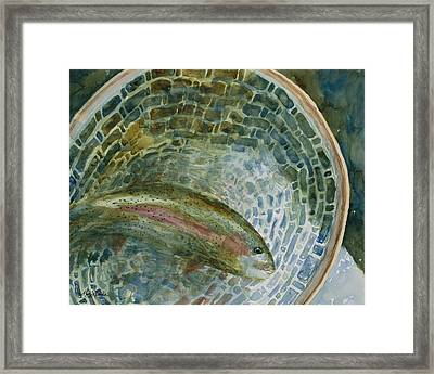 Caught For A Moment Framed Print by Mary Benke