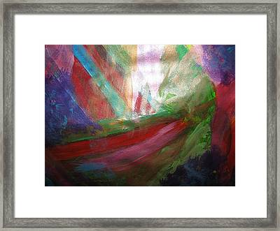Caught In A Nightmare Framed Print by Paula Andrea Pyle