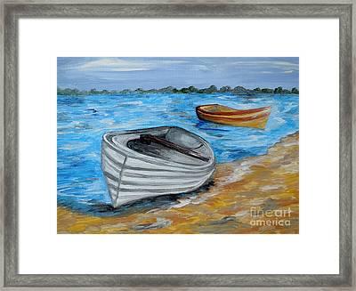 Caught In The Tide Framed Print by Eloise Schneider