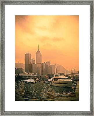 Causeway Bay At Sunset Framed Print by Loriental Photography