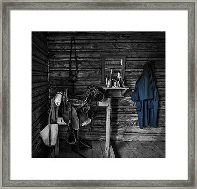 Cavalry Bunkhouse Framed Print by Mountain Dreams