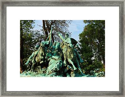 Cavalry Charge - Ulysses S. Grant Memorial Framed Print by Glenn McCarthy