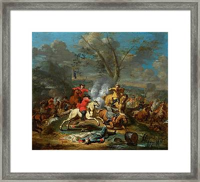 Cavalry Skirmish II Framed Print by Celestial Images