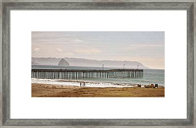 Caycous Pier II Framed Print by Sharon Foster