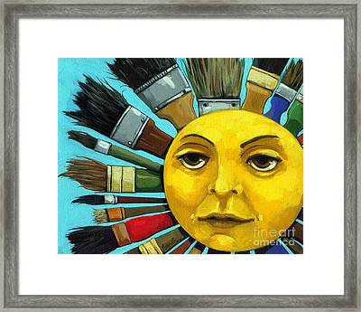 Cbs Sunday Morning Sun Art Framed Print by Linda Apple