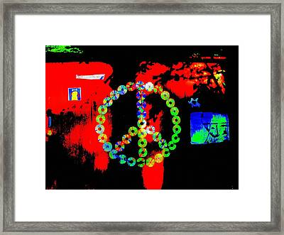 Cd Peace Cycle Framed Print by Connie Valasco