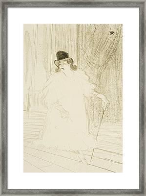 Cecy Loftus Framed Print by Henri De Toulouse-Lautrec