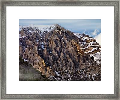 Cedar Creek Canyon Framed Print by Leland D Howard