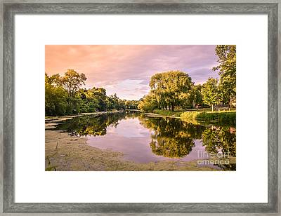 Cedar Creek - Early Evening Framed Print by Mary Machare